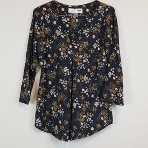 Old Navy Floral popover Maternity blouse XS